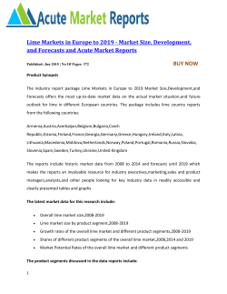 Lime Markets in Europe to 2019 by Acute Market Reports