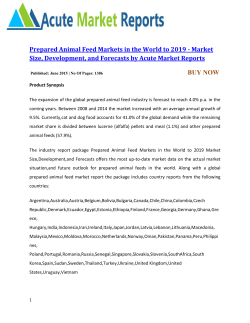 Prepared Animal Feed Markets in the World
