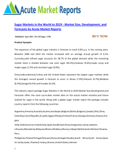 Sugar Markets in the World to 2019