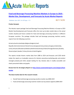 Food and Beverage Processing Machine Markets in Europe
