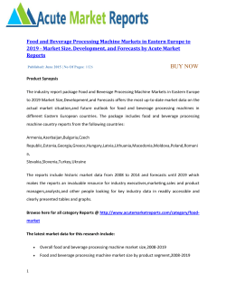 Food and Beverage Processing Machine Markets in Eastern Europe