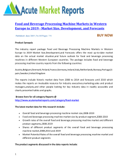 Food and Beverage Processing Machine Markets in Western Europe