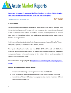 Food and Beverage Processing Machine Markets in Asia