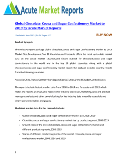 Global Chocolate, Cocoa and Sugar Confectionery Market