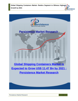 Global Shipping Containers Market- Reefers Segment to Witness Highest Growth by 2021