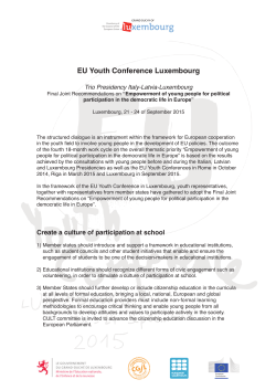 EU Youth Conference Luxembourg