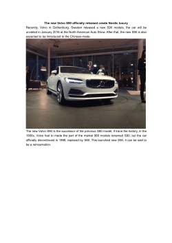 The new Volvo S90 officially released create Nordic luxury