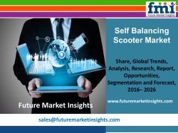 Market Size of Self Balancing Scooter Market, Forecast Report 2016-2026