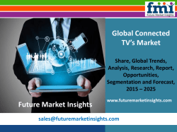 Connected TV's Market Global Industry Analysis, size, share and Forecast 2015-2025