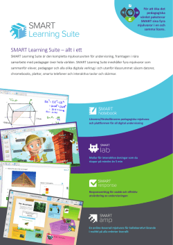 Produktblad SMART Learning Suite SLS