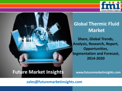 New Research Report on Thermic Fluid Market, 2014-2020
