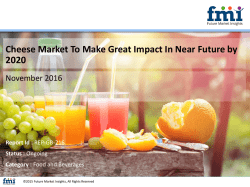 Cheese Market To Make Great Impact In Near Future by 2020