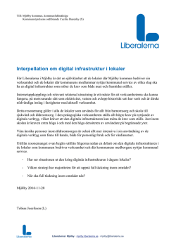 1612 Interpellation om digital infrastruktur i lokaler