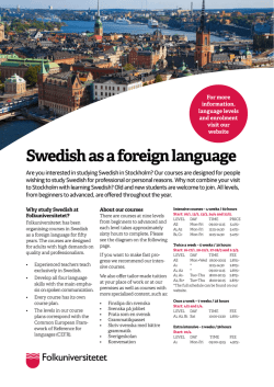 Swedish as a foreign language