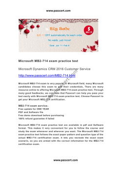 Microsoft MB2-714 exam practice test