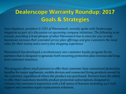Dealerscope Warranty Roundup: 2017 Goals & Strategies
