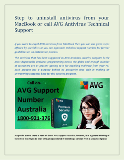 Step to uninstall antivirus from your MacBook or call AVG Antivirus Technical Support