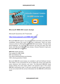 Microsoft MB6-893 exam dumps