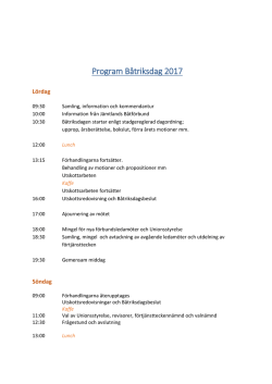 Program Båtriksdag 2017
