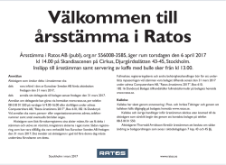 Annons - Ratos