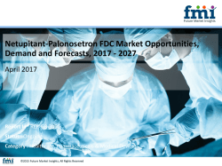 Netupitant-Palonosetron FDC Market Globally Expected to Drive Growth through 2027