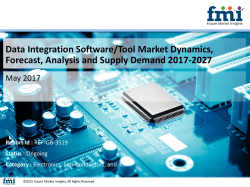 Data Integration Software/Tool Market Volume Analysis, Segments, Value Share and Key Trends 2017-2027