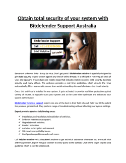 Obtain total security of your system with Bitdefender Antivirus