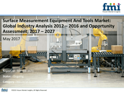 Surface Measurement Equipment And Tools Market