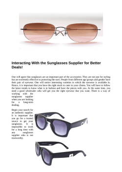 How to Work With a Sunglasses Supplier for Long Term
