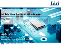 Mobile User Authentication Market with Current Trends Analysis, 2017-2027