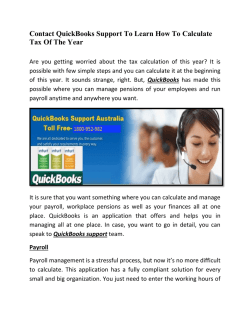 Contact QuickBooks Support To Learn How To Calculate Tax Of The Year
