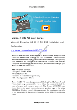 Microsoft MB6-705 exam dumps
