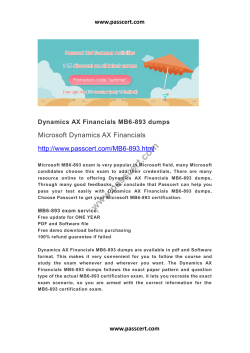 Dynamics AX Financials MB6-893 dumps