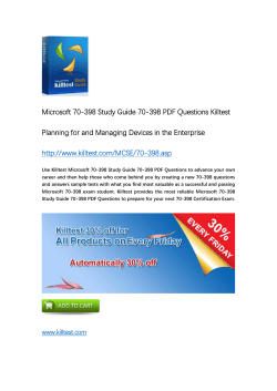 70-398 Microsoft Certification Training