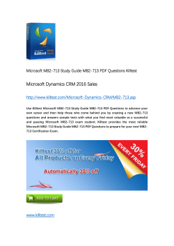 MB2-713 Microsoft Certification Training