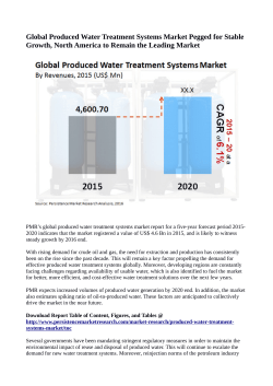 Produced Water Treatment Systems Market Projected to Reach US$ 6 Billion By 2020