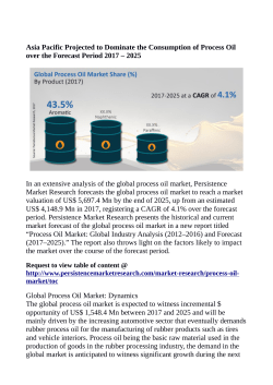 Process Oil Market Anticipated to Value US$ 5,697.4 Million By 2025