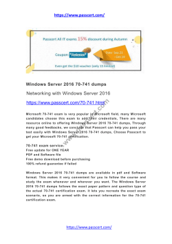 Windows Server 2016 70-741 dumps