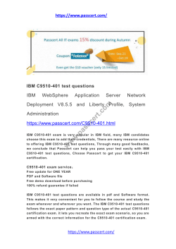 IBM C9510-401 test questions