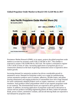 Propylene Oxide Market Anticipated to Reach US$ 20,000 Million By 2025