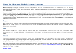 Sleep Vs. Hibernate Mode in Lenovo Laptops