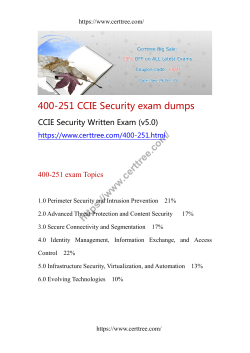 400-251 CCIE Security exam dumps