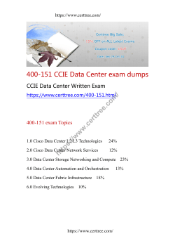 400-151 CCIE Data Center exam dumps