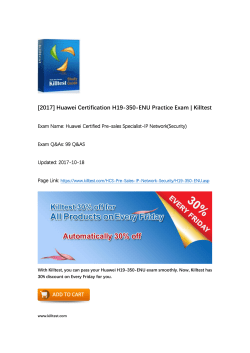 Valid HCS-Pre-Sales-IP Network(Security) H19-350-ENU Huawei Questions