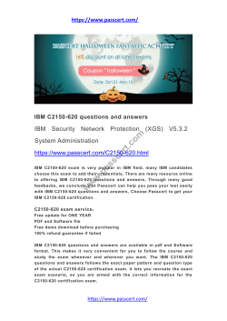 IBM C2150-620 questions and answers