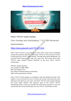 Citrix 1Y0-311 exam dumps