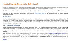 How to Clear the Memory of a Dell Printer?