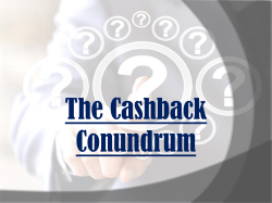 The Cashback Conundrum