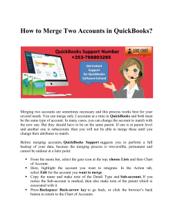 How to Merge Two Accounts in QuickBooks