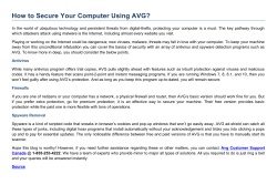 How to Secure Your Computer Using AVG